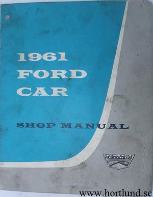 1961 Ford Car Shop Manual