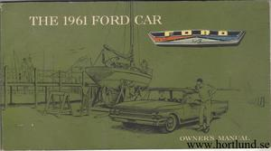 1961 Ford Car Owners Manual