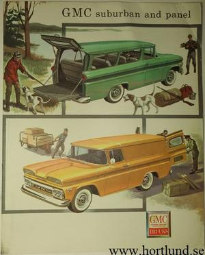 1960 GMC Suburban and Panel Broschyr