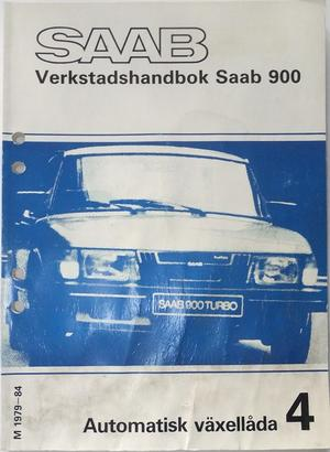 1979 - 1984 SAAB 900 Verkstadshandbok Automatisk växellåda