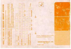 1983 Datsun Nissan Pick-Up Instruktionsbok Owners Manual