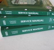 2001 Chevrolet Camaro + Pontiac Firebird Service Manual Set om 3 böcker