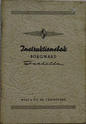 1955 Borgward Isabella Instruktionsbok svensk