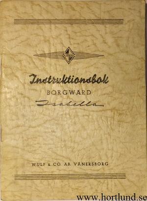 1954 Borgward Isabella Instruktionsbok svensk