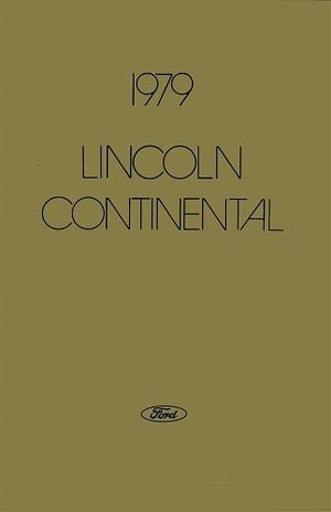 1979 Lincoln Continental Owners Manual