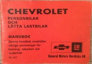 1977 Chevrolet Handbok svensk