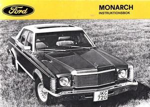 1976 Mercury Monarch Instruktionsbok svensk
