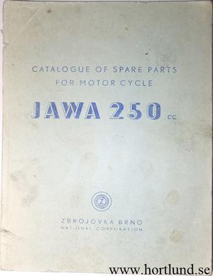 1947 - 1952 Jawa 250 typ 11 Reservdelskatalog