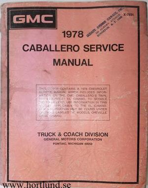 1978 GMC Caballero Service Manual