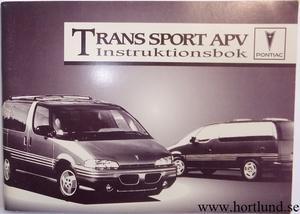 1994 Pontiac Trans Sport APV Instruktionsbok svensk