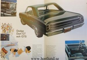 1969 Dodge Dart broschyr svensk