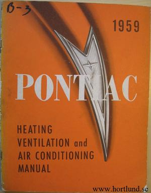 1959 Pontiac Heating, Ventilation and Air Conditioning Manual