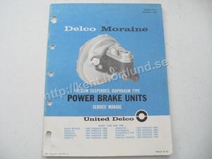 1964-1966 Delco Moraine Power Brake Units Service Manual
