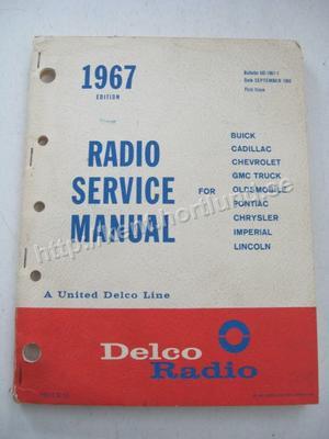 1967 Delco Radio Service Manual