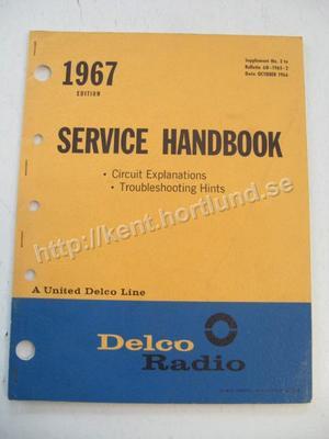 1967 Delco Radio Service Handbook Circuit explanation, Troubleshooting,