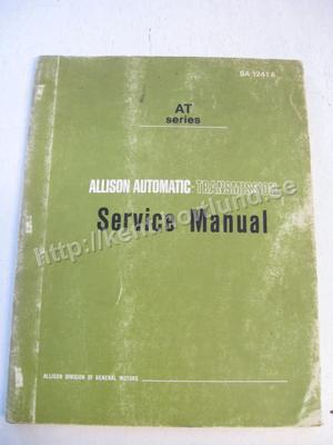 1970 Allison Automatic-Transmission Service Manual