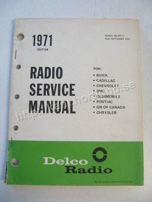 1971 Delco Radio Service Manual