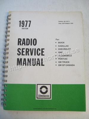 1977 Delco Radio Service Manual