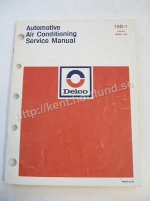 1978 Delco Automotive Air Conditioning Service Manual