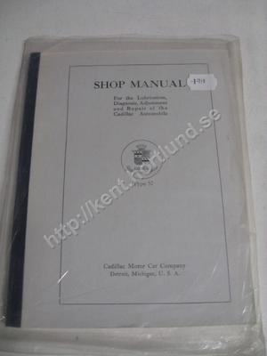 1919 Cadillac type 57 Shop Manual