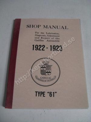 1922-1923 Cadillac Shop Manual