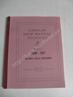 1926-27 Cadillac Series 314 & LaSalle Shop Manual
