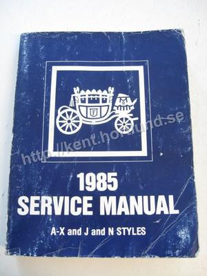 1985 Fisher Body Service Manual A-X and J and N Styles
