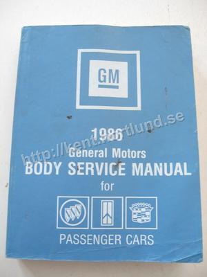 1986 GM Body Service Manual Passenger Cars