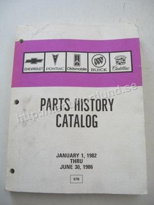 1982-1986 Parts History Catalog
