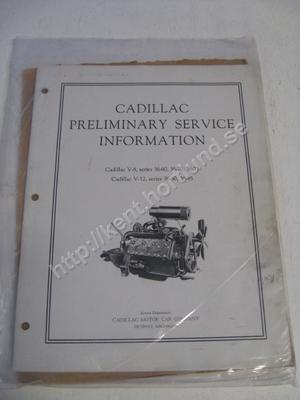 1936 Cadillac V-8, series 36-60,36-70, 36-75 Cadillac V-12, series 36-80, 36-85 Preliminary service information