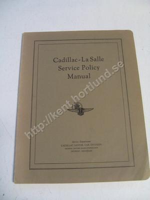 1937 Cadillac La Salle Service Policy Manual