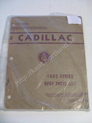 1942 Cadillac Body parts list