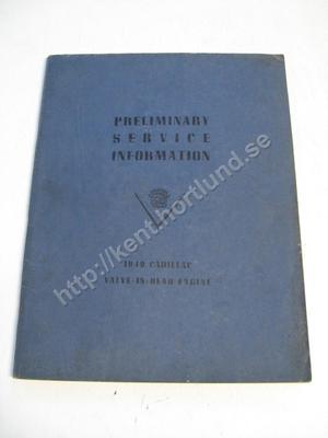 1949 Cadillac valve in head engines preliminary service information