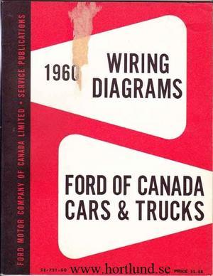 1960 Ford MoCo Wiring Diagrams Cars & Trucks