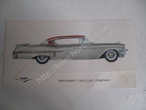 1957 Cadillac Sedan De Ville Försäljningsbroschyr
