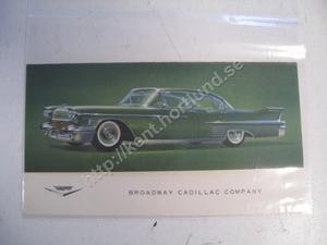 1958 Cadillac Sedan broschyr