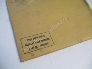 1960 Cadillac Shop Manual Supplement original