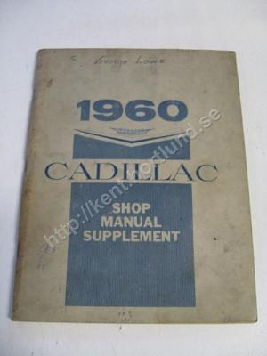 1960 Cadillac Shop Manual Supplement original