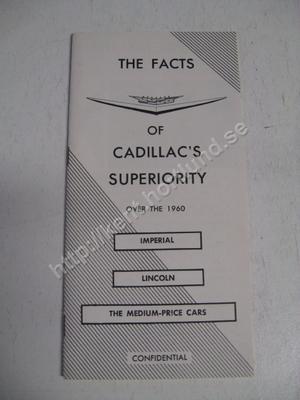 1960 Cadillac Försäljningsbroschyr