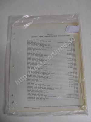 1962 Cadillac pages from parts catalog