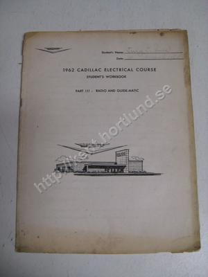 1962 Cadillac students workbook