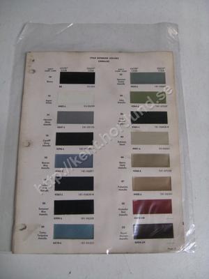 1964 Cadillac Exterior colors