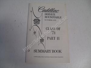 1971 Cadillac Service roundtable summary book