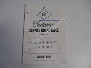 1972 Cadillac Service roundtable summary book