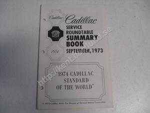 1974 Cadillac Service roundtable summary book