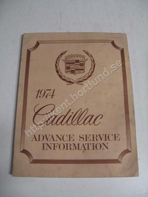 1974 Cadillac advance service information