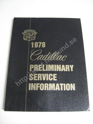 1977 Cadillac Preliminary service information