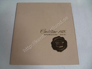 1978 Cadillac broschyr