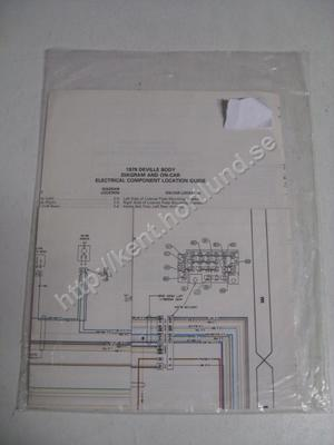 1979 Cadillac Deville body diagram and on-car electrical component location guide