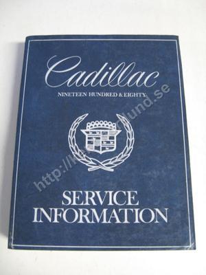 1980 Cadillac Service information